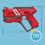 TDF Laserguns afmetingen